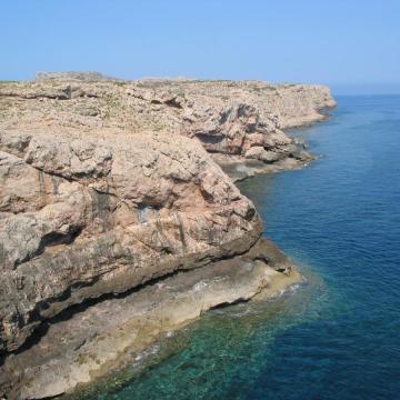 Χαρακτηριστική θέση εμφάνισης της παλαιοακτής της Δυτικής Κρήτης.