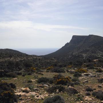 Kefali peak and part of Martsalo gorge