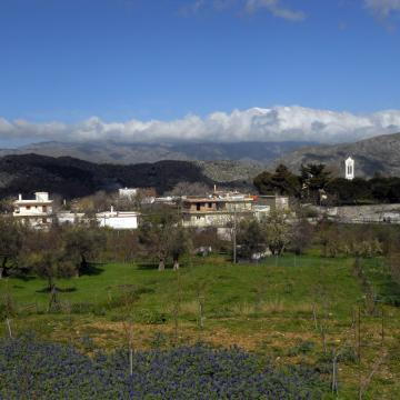 Gerakari village, at the east of mount Kedros