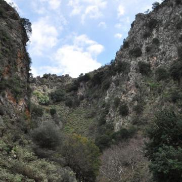 Driving through the gorge of Therissos