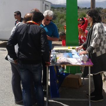 Αφίσες και φυλλάδια του έργου διατέθηκαν στους συμμετέχοντες