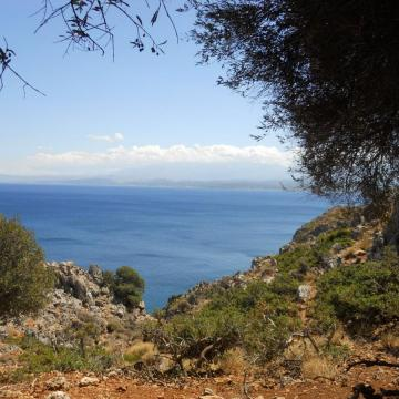 View to Chania golf, from Rodopou peninsula