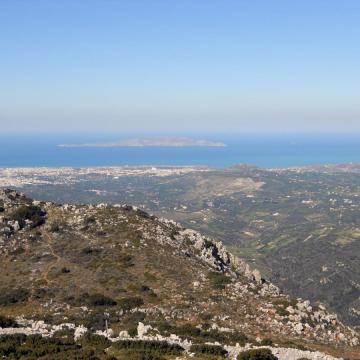 Άποψη της νήσου Δίας, από τον Γιούχτα, Αρχάνες