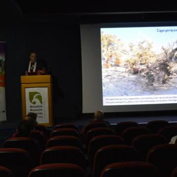 Snapshot from the presentation of the «Special Environmental Study of the Island of Chrysi»