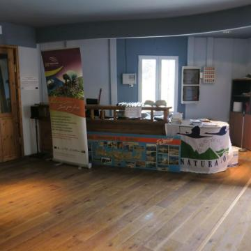 The seminar reception desk at the Environmental Information Center of Samaria National Park