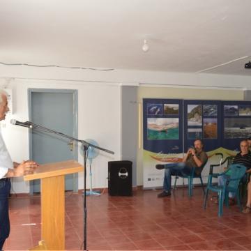 Ο Δήμαρχος Αποκορώνου χαιρετίζει την ημερίδα, Αλίκαμπος