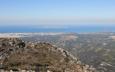 View of Dia island from Youchtas Mount, Archanes area